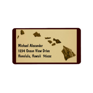 Mapa de las islas hawaianas etiquetas de dirección