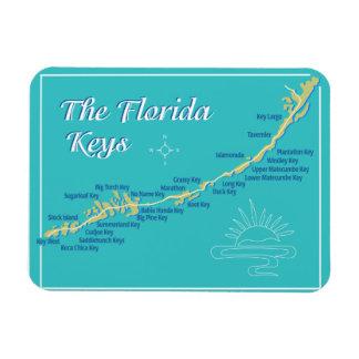 Mapa de las llaves de la Florida Imán Rectangular