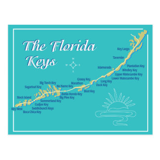 Mapa de las llaves de la Florida Postal