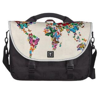Mapa de las mariposas del mundo bolsas de portatil