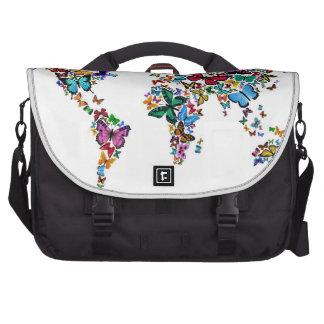 Mapa de las mariposas del mundo bolsas para ordenador