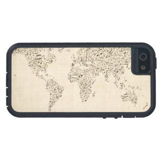 Mapa de las notas de la música del mundo iPhone 5 Case-Mate cárcasas