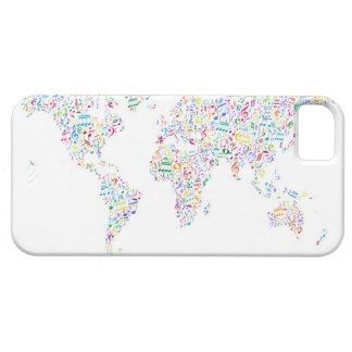 Mapa de las notas de la música del mundo iPhone 5 Case-Mate funda