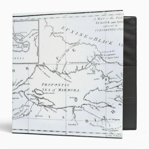 """Mapa de las partes de Europa y de Asia Carpeta 1 1/2"""""""