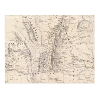 Mapa de las provincias de Cordova y del San Luis Postales