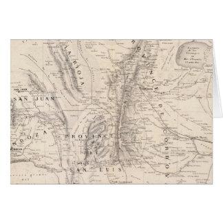 Mapa de las provincias de Cordova y del San Luis Tarjeta De Felicitación