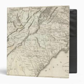 """Mapa de las provincias meridionales de los Estados Carpeta 1 1/2"""""""