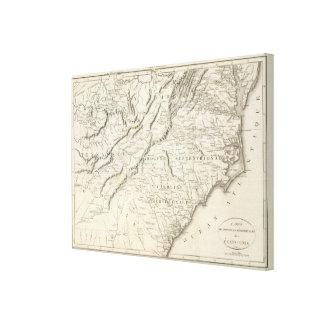 Mapa de las provincias meridionales de los Estados Impresión En Lienzo