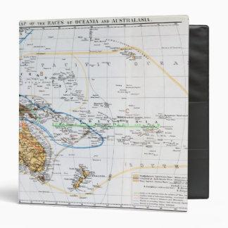 Mapa de las razas de Oceanía y de Australasia