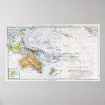 Mapa de las razas de Oceanía y de Australasia Poster