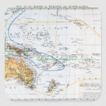 Mapa de las razas de Oceanía y de Australasia Calcomania Cuadradas