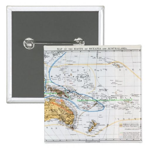 Mapa de las razas de Oceanía y de Australasia Pin