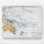 Mapa de las razas de Oceanía y de Australasia Tapetes De Ratón