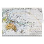 Mapa de las razas de Oceanía y de Australasia Felicitaciones