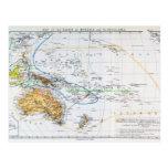 Mapa de las razas de Oceanía y de Australasia Postales