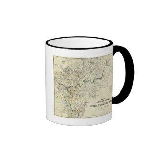 Mapa de las regiones del aceite del condado de Ven Tazas De Café