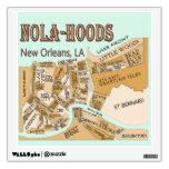 Mapa de las vecindades de New Orleans, NOLA_HOODS Vinilo Decorativo