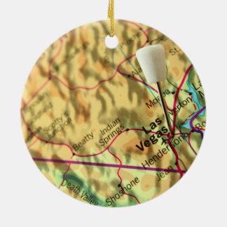 Mapa de Las Vegas Adorno Redondo De Cerámica