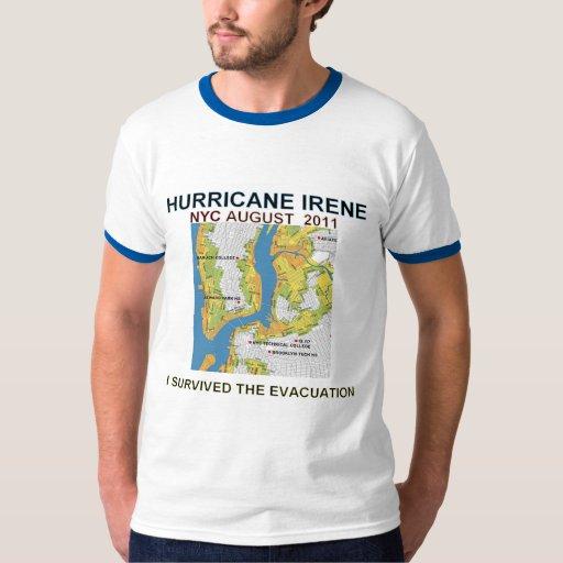 Mapa de las zonas de la evacuación para la camisa
