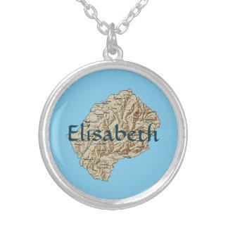 Mapa de Lesotho + Collar conocido