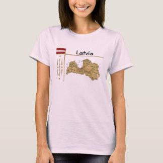 Mapa de Letonia + Bandera + Camiseta del título