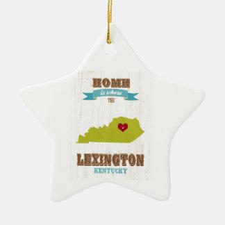 Mapa de Lexington, Kentucky - casero es donde Adorno Navideño De Cerámica En Forma De Estrella