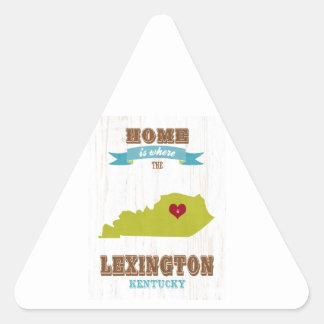 Mapa de Lexington, Kentucky - casero es donde Pegatina Triangular
