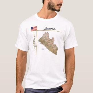 Mapa de Liberia + Bandera + Camiseta del título
