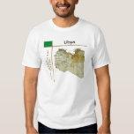 Mapa de Libia + Bandera + Camiseta del título Camisas