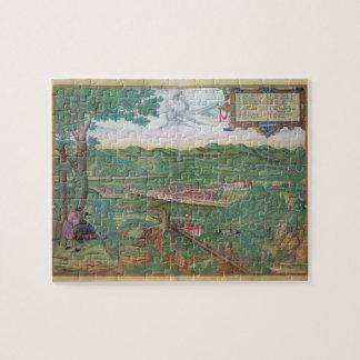 """Mapa de Linz, de """"Civitates Orbis Terrarum"""" por GE Puzzles Con Fotos"""