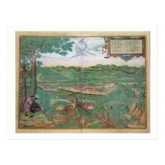 "Mapa de Linz, de ""Civitates Orbis Terrarum"" por GE Postales"