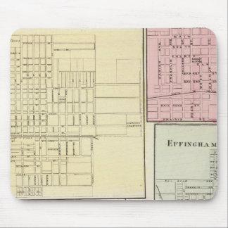 Mapa de Litchfield, Carlinsville, Salem Alfombrillas De Raton
