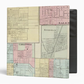 "Mapa de Litchfield, Carlinsville, Salem Carpeta 1 1/2"""