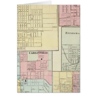 Mapa de Litchfield, Carlinsville, Salem Tarjeta De Felicitación