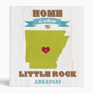Mapa de Little Rock Arkansas - casero es donde