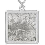 Mapa de Londres moderno y de sus alrededores, 1854 Colgante Cuadrado