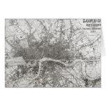 Mapa de Londres moderno y de sus alrededores, 1854 Tarjeta De Felicitación