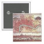 Mapa de Londres Pin Cuadrado