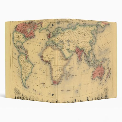 mapa de los 1850's del Imperio británico en el mun