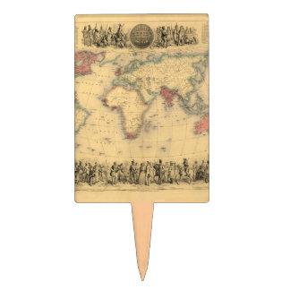 mapa de los 1850's del Imperio británico en el mun Decoración Para Tarta