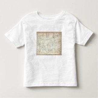 Mapa de los acuerdos traseros camisetas