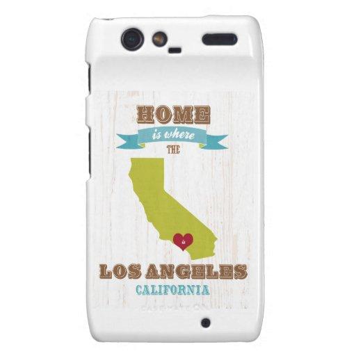 Mapa de Los Ángeles, California - casero es donde Motorola Droid RAZR Carcasa