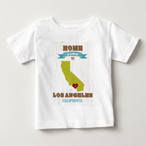 Mapa de Los Ángeles, California - casero es donde Playeras