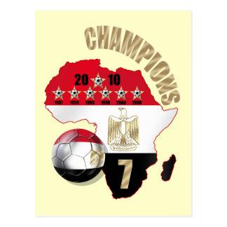 Mapa de los campeones de la postal de los Pharaohs