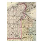 Mapa de los condados de Ashland y de Bayfield Postal