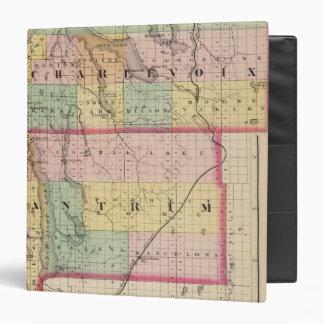 """Mapa de los condados de Charlevoix y de Antrim, Mi Carpeta 1 1/2"""""""