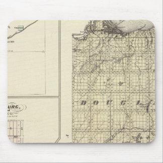 Mapa de los condados de Douglas y de Burnett Mousepad