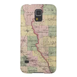 Mapa de los condados de Juneau y de Adams Carcasa Para Galaxy S5