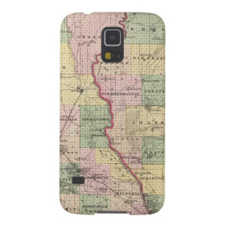 Mapa de los condados de Juneau y de Adams Carcasa De Galaxy S5