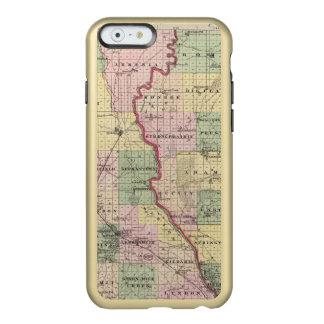 Mapa de los condados de Juneau y de Adams Funda Para iPhone 6 Plus Incipio Feather Shine